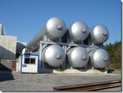 Helium tanks at the Large Hadron Collider, one of the places that relies upon the inert gas.